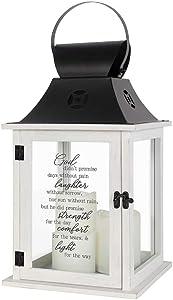 Carson God Didn't Promise Pillar Candle Lantern
