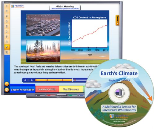 NewPath Learning Earths Climate Multimedia Lesson Single User License Grade 6-10