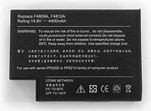 Batería compatible 8 celdas-14,4% 2F V-4400 mAh-Wh-14,8 64 color negro-peso 430 g tamaño estándar-..