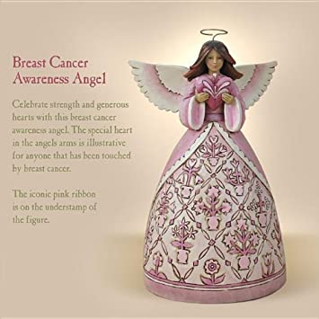 Department 56 Hope Makes Anything Possible Pink Angel with Heart Figurine
