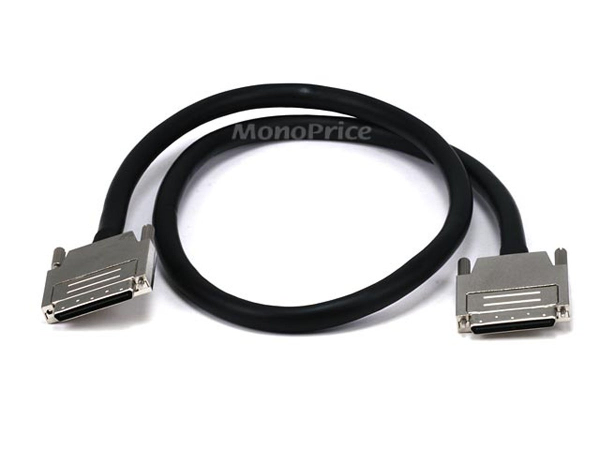 Monoprice 100708 3-Feet 0.8 mm/0.8 mm VHDCI 0.8mm SCSI Cable, Offset (100708) by Monoprice