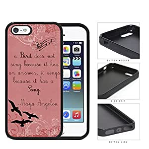 Love Birds On Cherry Blossom 2-Piece Dual Layer High Impact Rubber Silicone Cell Phone Case Apple iPhone 4 4s