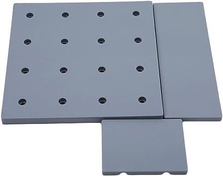 Chinget Kunststoff Lochplatte Lagerung Wohnzimmer Kuche Schlafzimmer Lagerregal Kosmetik Lagerung Wand Regale Grau Amazon De Burobedarf Schreibwaren