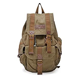 Gootium 21101AMG-S Specially High Density Thick Canvas Backpack Rucksack, Army Green Size Small