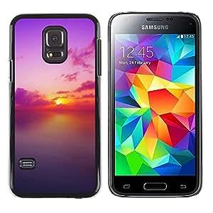 iKiki Tech / Estuche rígido - Sunset Beautiful Nature 73 - Samsung Galaxy S5 Mini, SM-G800, NOT S5 REGULAR!