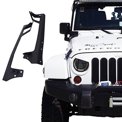 - Xprite 2007-2018 Jeep Wrangler JK JKU Windshield Mounting Bracket W/Lower Corner Brackets for 50