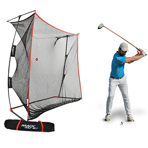 Rukket 9x7x3ft Haack Golf Net Pro | Practice Driving Indoor and Outdoor | Professional Golfing at Home Swing Training Aids | By SEC Coach Chris Haack (Haack Golf Net (Chipper Net)