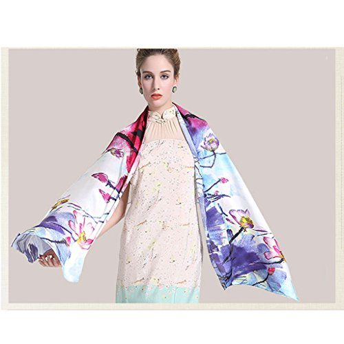 Female Scarf Silk Chinese Oil Painting Long Fashion Autumn Shawl Ink Painting Elegance Silky Coats, Jackets & - Chinese Womans Jacket Silk Coat