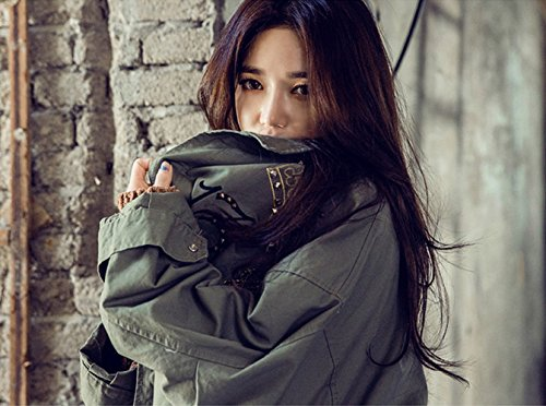 Coffeepop Mujer Fashion Irregular grande solapa Cashmere Jersey Coat Cardigan Chaqueta caqui