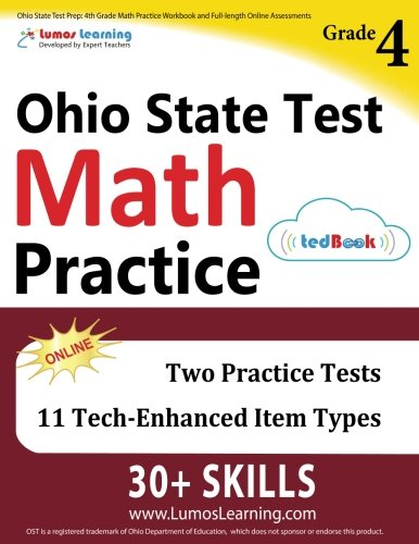 Download Ohio State Test Prep: 4th Grade Math Practice Workbook and Full-length Online Assessments: OST Study Guide PDF
