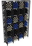 VintageView Case & Crate Metal Wine Rack - Full Height - Capacity 384 Bottles