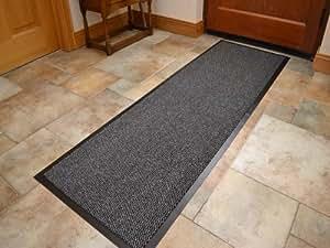Alfombrilla Esterilla Extra Grange para Entrada con Borde de PVC - Color Gris Claro - Resistente - 60cm x 180cm