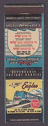 Eagle Fleet Missouri Pacific Line Eagles Colorado Delta + railroad matchcover