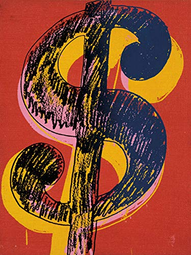 Poster Art Print - Dollar Sign, 1981 (Black & Yellow On Red) (14 x 11 inches) ()