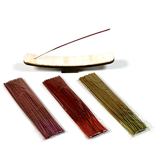 Hosley Set of 150 Deluxe Incense Sticks with 10
