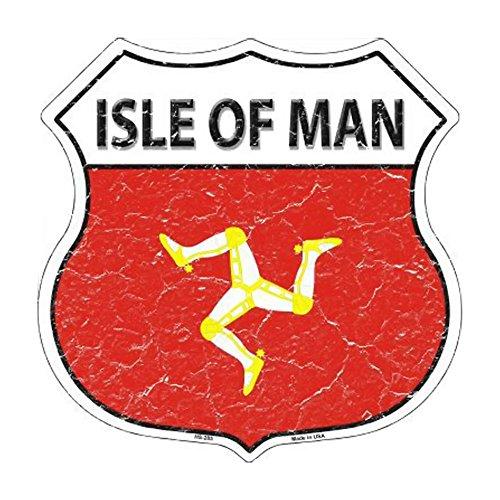 Smart Blonde Isle Of Man Country Flag Highway Shield Metal S
