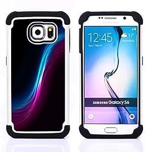 """Pulsar ( Espacio Wormhole Cosmos Universo Arte colorido"""" ) Samsung Galaxy S6 / SM-G920 SM-G920 híbrida Heavy Duty Impact pesado deber de protección a los choques caso Carcasa de parachoques"""