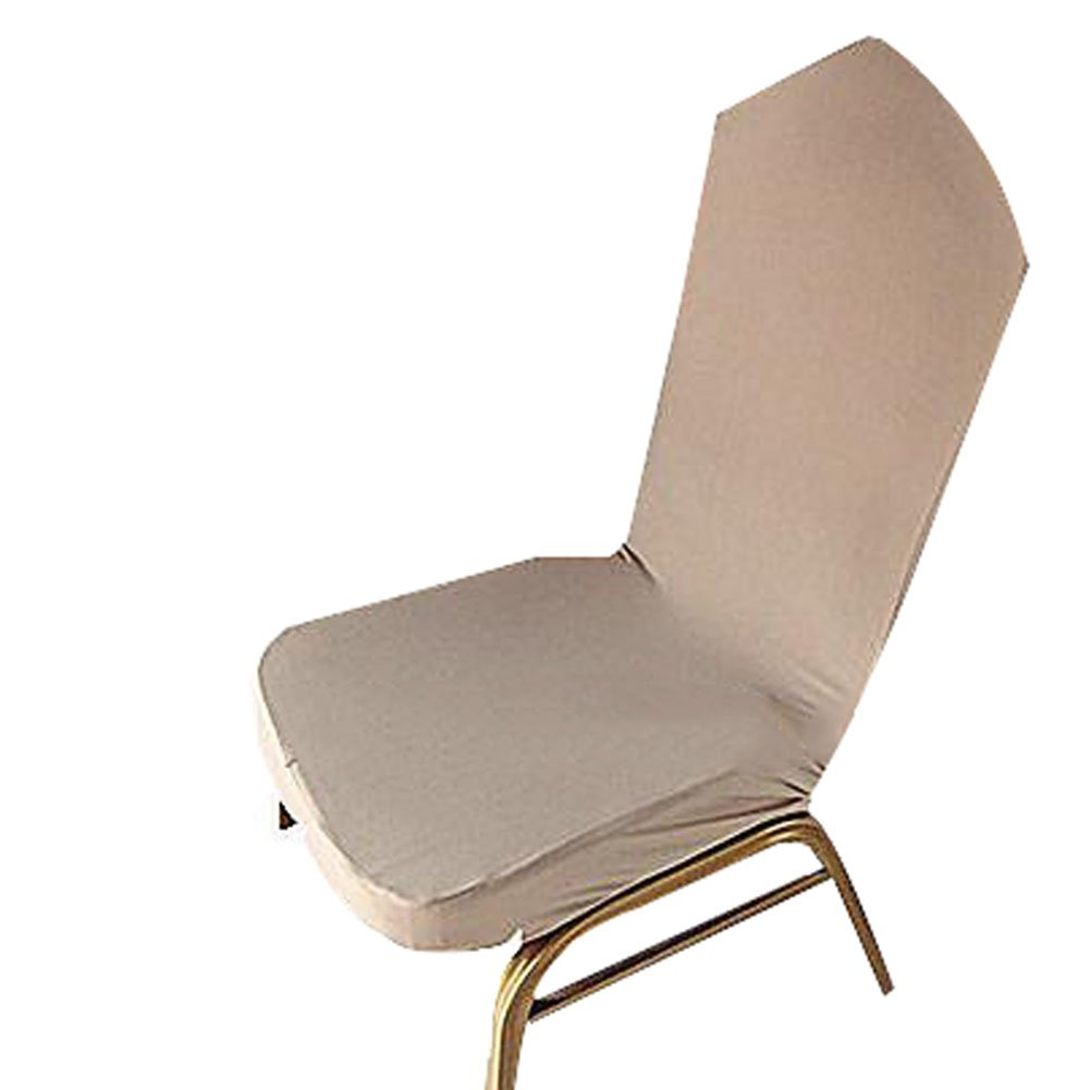 A.B Crew Stretch Chair Cover Pure Color Short Dining Room Chair Cover for Daily Use Grey