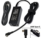 45W USB-C Adapter Charger Power Supply for HP Spectre x360 13 HP Pavillion X2; Lenovo Thinkpad X1 Tablet Yoga 910 720 13'' 80VF002JUS IBM Yoga 5; ASUS ZenBook 3 UX390 -90 Degree Plug