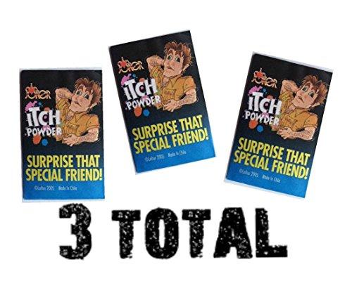 (3) Itch Itching Powder Packages ~ Prank Joke Trick Gag Funny Joke Trick