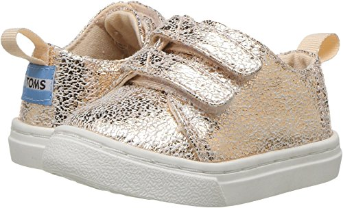 TOMS Kids Baby Girl's Lenny (Infant/Toddler/Little Kid) Rose Gold Crackle Foil 9 Toddler M