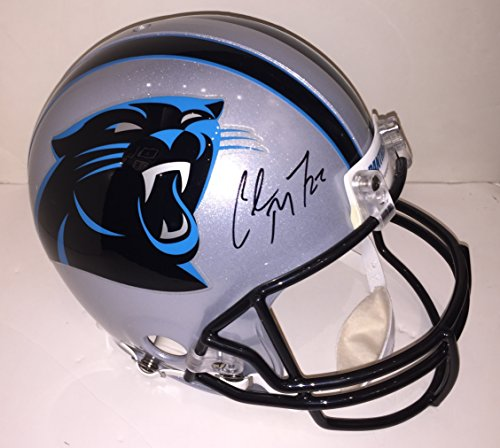 Autographed Authentic Pro Line Helmet (Christian McCaffrey Autographed Carolina Panthers Proline Authentic Helmet - signed rookie season. BAS & TAS COA 's.)