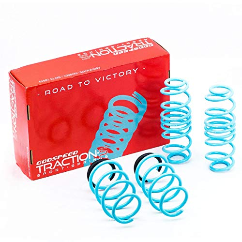(Godspeed LS-TS-VN-0001-B Traction-S Performance Lowering Springs, Reduce Body Roll, Improved Handling, Set of 4)