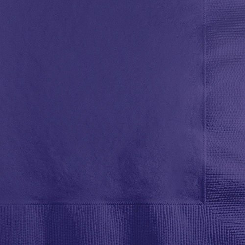(Creative Converting 100 Gorgeous Purple Beverage/Cocktail Napkins for Wedding/Party/Event, 2ply, Disposable, 5