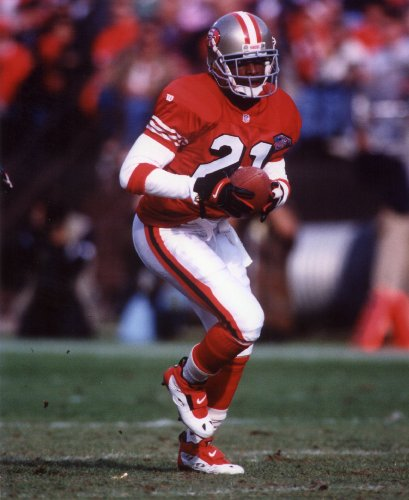 DEION SANDERS SAN FRANCISCO 49ERS 8X10 SPORTS ACTION PHOTO (A) -