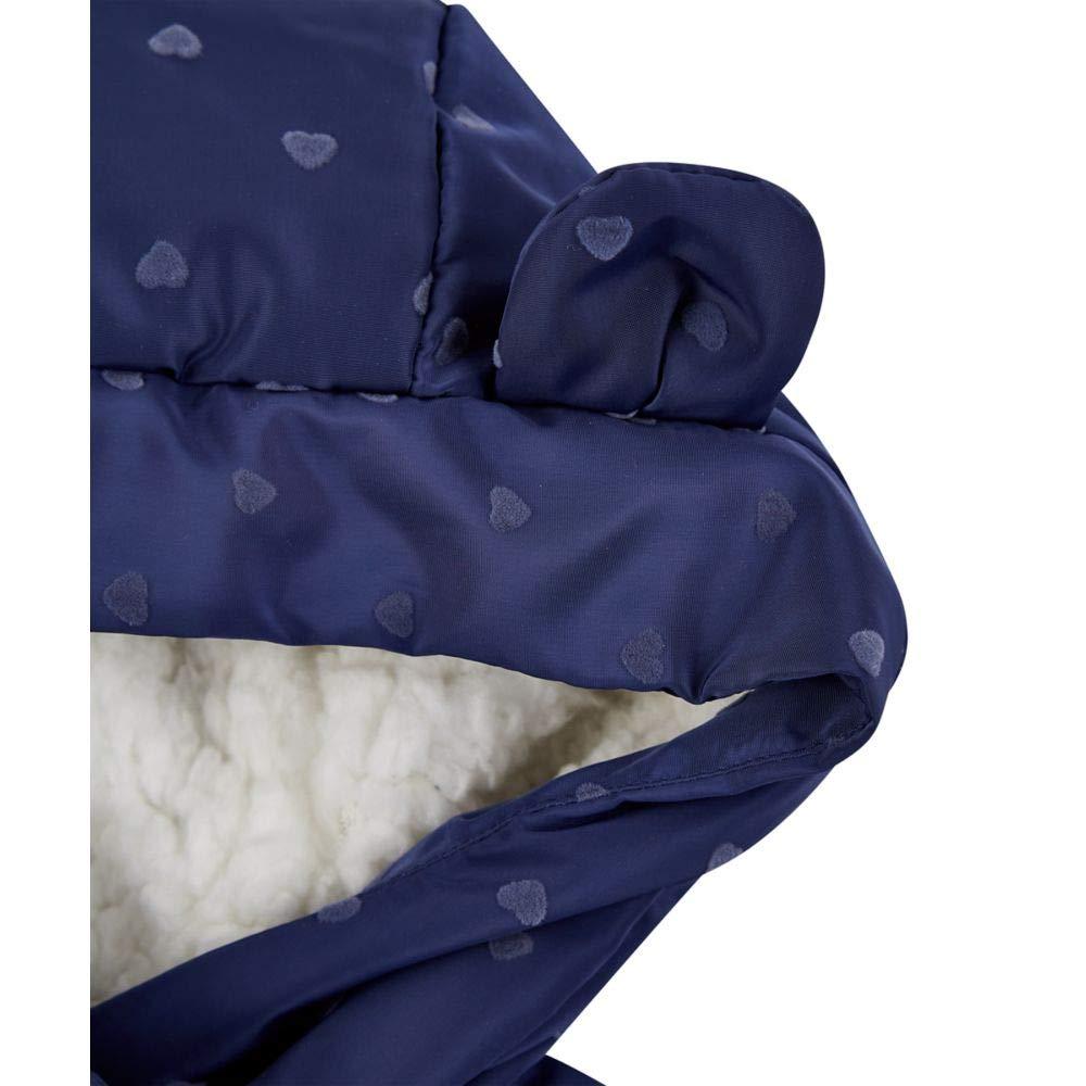 Mothercare Unisex Baby Padded Coat Duvet Wrap Navy Heart Mantel