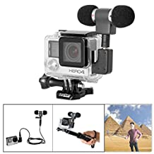 Fantaseal® Mini Stereo Microphone Kit Orthogonal Mic w/ Stereo Windproof Mic +Extension Cable + Sterero Mic Adapter Converter for GoPro Microphone Kit GoPro Travelling Microphone GoPro Interview Microphone Gopro Omnidirectional Condenser Microphone for GoPro Hero 4 Black Hero 4 Silver, Hero 3+ Black Hero 3 Black Hero 3+ Silver Hero 3 Silver Hero 3+ White Hero 3 White Microphone Kit