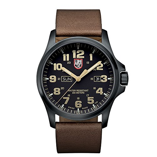 Luminox Atacama Field Black Dial Stainless Steel Leather Quartz Men's Watch 1929