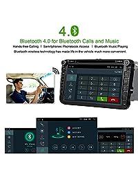 Android 8.1 Oreo Quad Core Double 2 Din Car Receptor de radio estéreo 8 pulgadas HD Pantalla táctil digital Reproductor de DVD para automóvil para Volkswagen Unidad principal con Bluetooth Navegación GPS CANbus SWC Mirrorlink