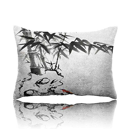 Travel Pillow Bamboo and Stone with bird5 Memory Foam Pillow 13