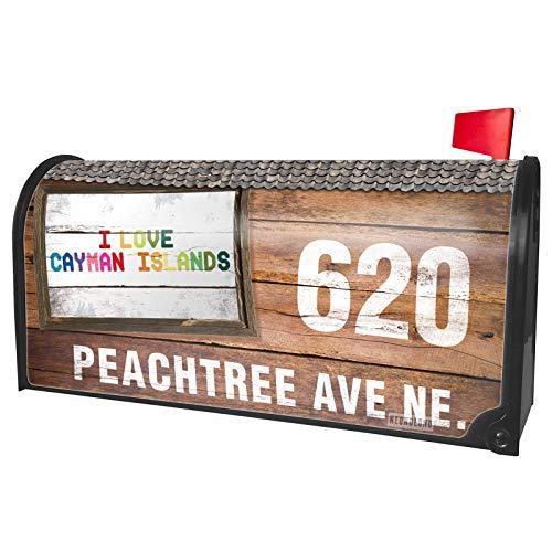NEONBLOND Custom Mailbox Cover I Love Cayman ()