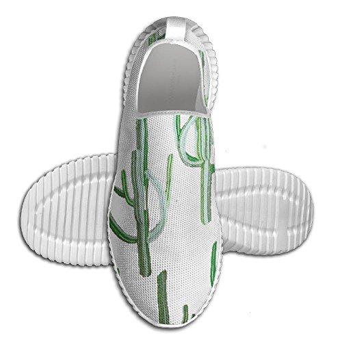 Kaktus Växt Tillfällig Löparskor Mode Unisex Kvalitet Canvas Kontors Sneakers För Stora Pojkar Vita