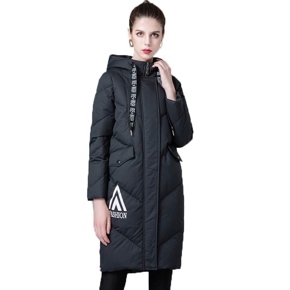 Damen Jacke Winterjacke Warm Parka Lange Winter Gefüttert Waschbar Daunenjacke Slim Steppjacke03