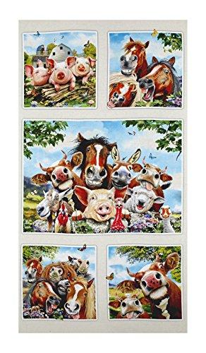 Elizabeth's Studio Farm Selfies 23.5in Panel Cream (Farm Panel)