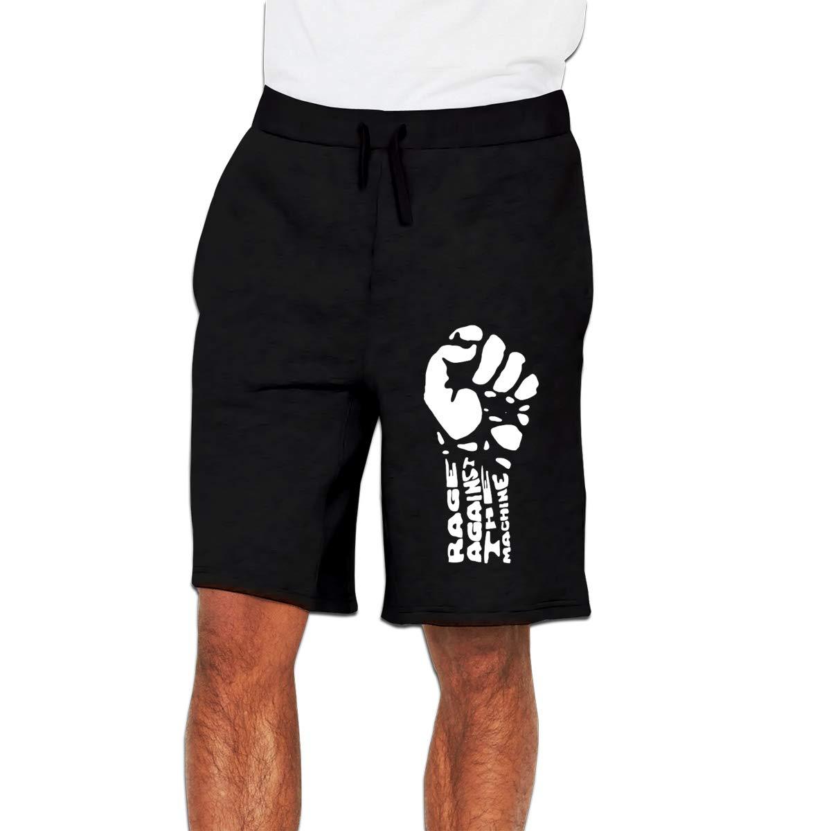5ccm Rage Against The Machine Men Trouser Casual Short Trouser Shorts Pants Black