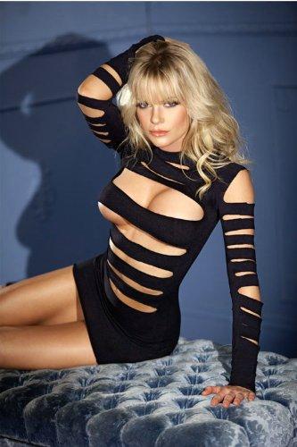 BE WICKED BWB33 Seamless long-sleeve cutout minidress