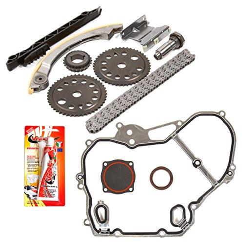 Fits 96-11 Chevrolet Oldsmobile Pontiac Saturn GM 2.0 2.2 2.4 DOHC DOHC 16V Ecotec Timing Chain Kit Timing Cover Gasket