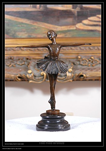 Cute Bronze statue little ballerina girl Dancer Bronze sculpture (Girl Bronze Statue)