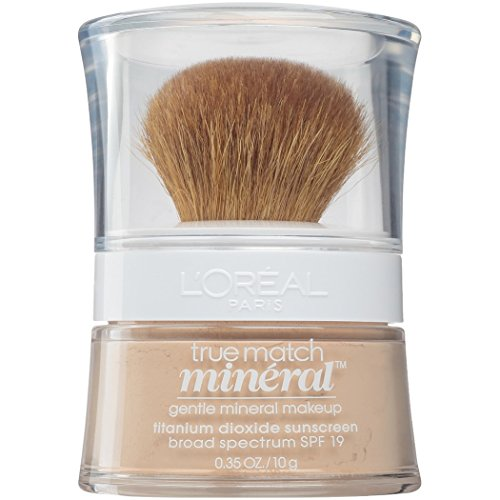 L'Oréal Paris Makeup True Match Loose Powder Mineral Foundation, Light Ivory, 0.35 oz.