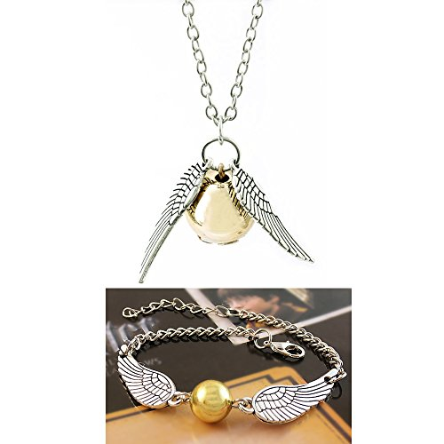 Bigib Set of Necklace & Bracelet for Harry Potter Fans Merchandise