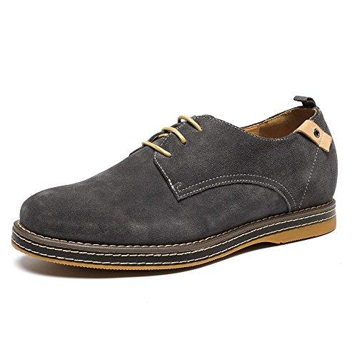 CHAMARIPA chaussures rehaussantes bateau en cuir suédé Hautes pour homme - Grandit de 6 cm
