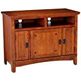 """Signature Design by Ashley W319-18 Cross Island Collection TV Stand, 42"""", Medium Brown"""