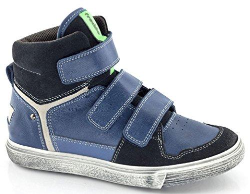 Froddo Leder High Top Sneaker blau neon grün