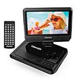 TENKER 11' Portable DVD Player with 9.5' Swivel Screen, Built-in Rechargeable Battery and SD Card Slot & USB Port [Upgraded Version]