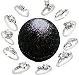 Bath Bomb with Ring Surprise Inside 8.1oz Sparkly Little Black Dress and Kaolin & Coconut Oil