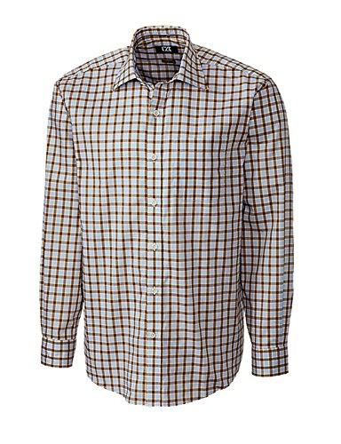 Cutter & Buck Men's Long Sleeve Kingsway Plaid Woven Shirt, Multi, - Kingsway Shop